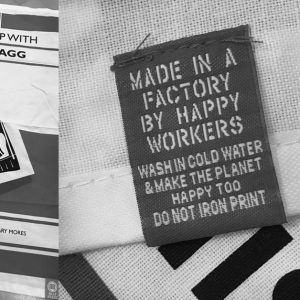 Band merchandise - Billy Bragg tea towel