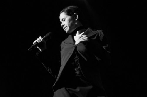 Natalie Merchant performing at a gig in London in 2010