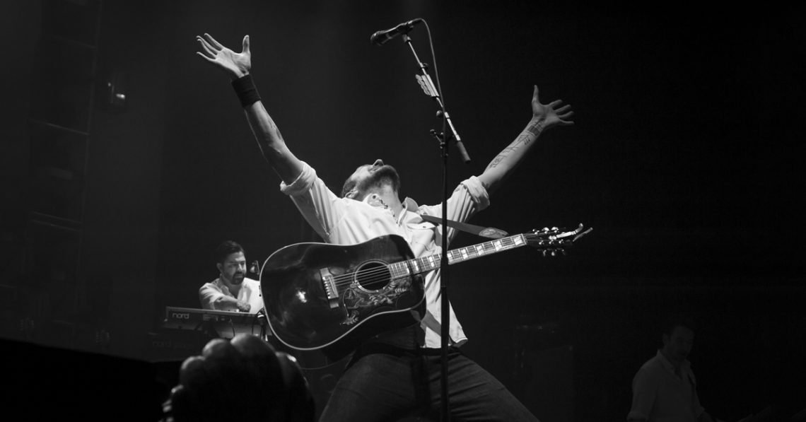 Frank Turner performing at O2 Arena in London in 2014